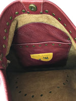 Deep Red Large Shoulder Bag