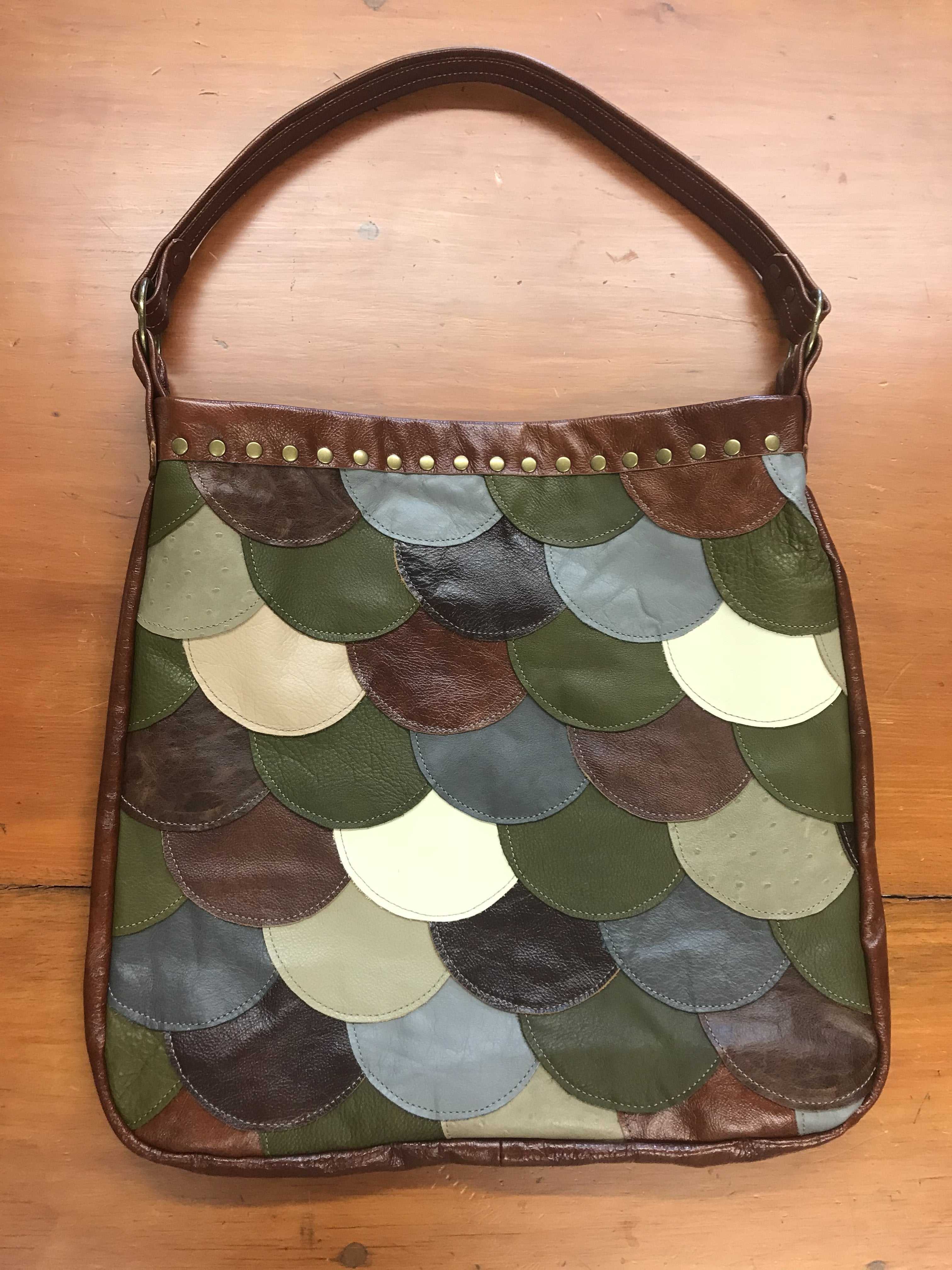 Lined Scallop Patch Limited Edition Handbag