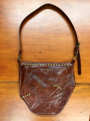 Large Brown Leather Crossbody Bag
