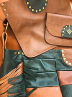 Green & Brown Leather Lined Limited Edition Bag