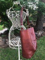 Cognac Brown Leather Tote Style Limited Edition Bag