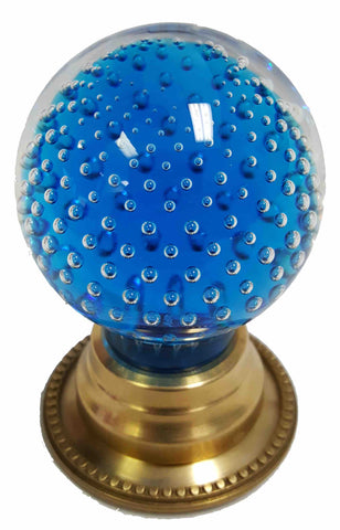 Pairpoint Controlled-Bubble Knob in Copper Blue