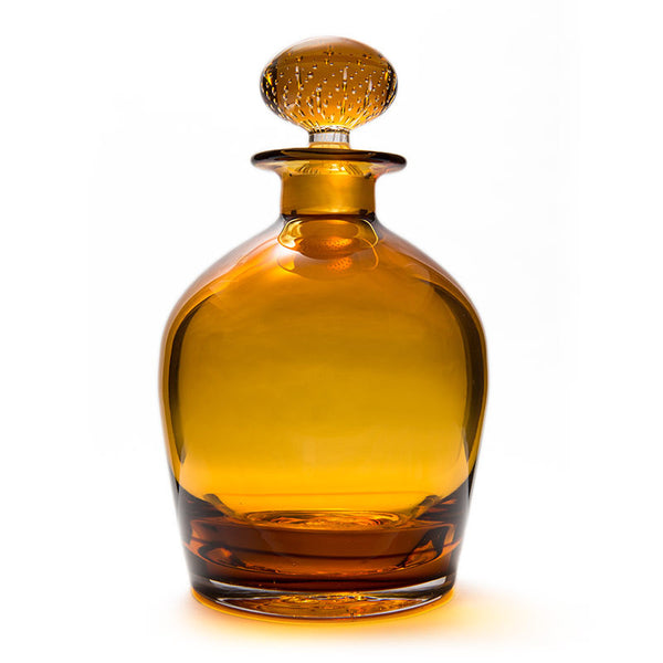 Amber Overlay Decanter