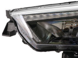 2014-2021 Toyota 4Runner White LED DRL Eyelid Light Bar Black Housing 2021 TRD Pro Style Built-In LED Low Beam Projector Headlight Made by DEPO