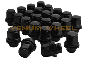 "24 Pc Black Toyota Oem Mag Seat Lug Nuts 12x1.5 1.45"" Tall 6 Lug"