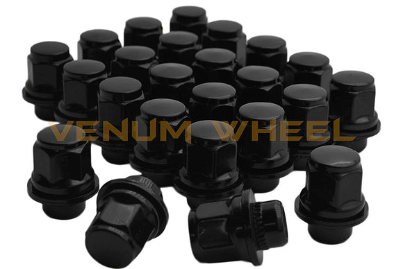24 Pc Black Toyota Oem Mag Seat Lug Nuts 12x1.5 1.45