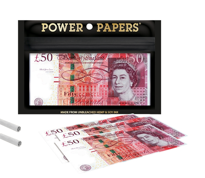 Papel Pound Sterling Rolling Papers with Filter Tips