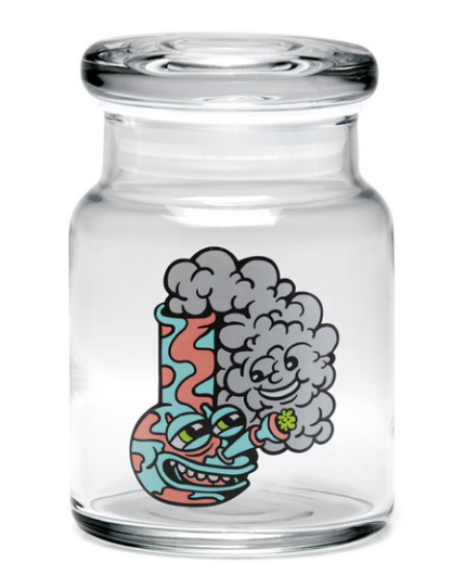 "bote 420 Science Killer Acid Water Pipe Pop Top Jar - 3.75""/Small"