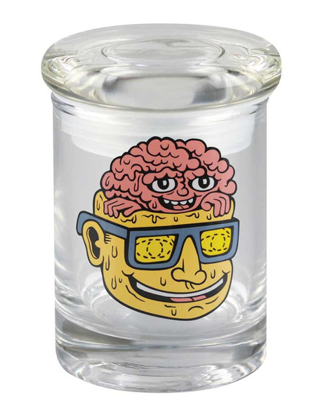 "bote 420 Science Killer Acid Brain Pop Top Jar - 3.25"" / XS"