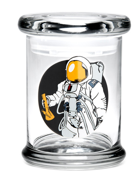 "Bote 420 Science Spaceman Pop Top Jar - 4""/Medium"