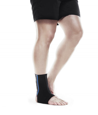 Rehband Men's QD Ankle Support 3mm, Blue/Grey