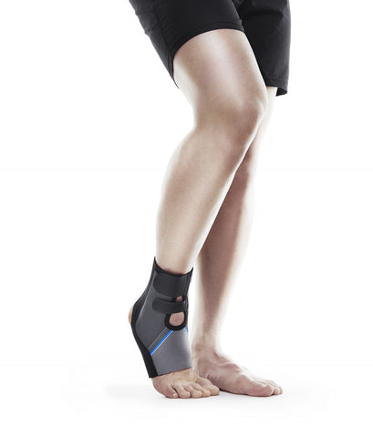 Rehband Men's QD Shin & Calf Support Blue/Grey, 3mm