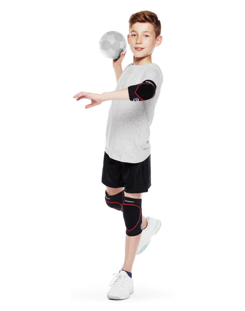 Rehband Kid's RX Speed Padded Knee Support Black/Red (Pair)