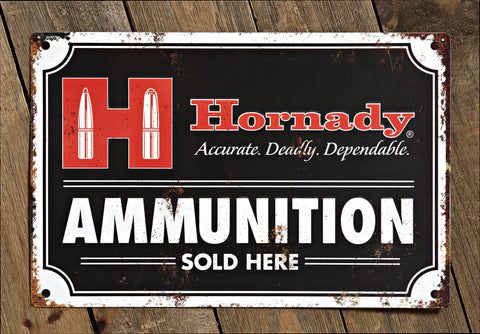 Hornady Decorative Ammo Tin Sign
