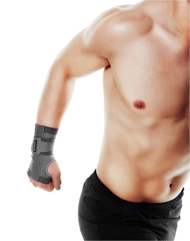 Rehband Men's RX Wrist Support 5mm, Black (Pair) (DISCONTINUED)