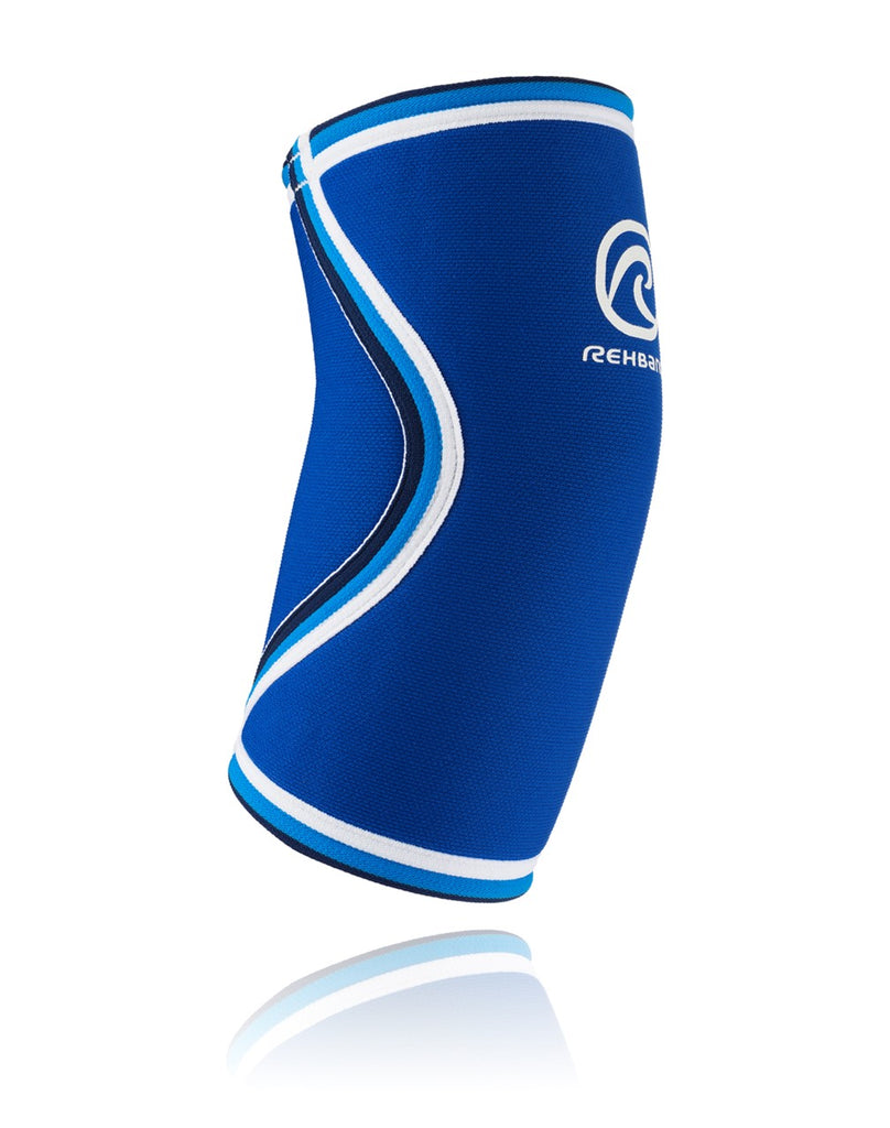 Rehband RX Original Elbow Sleeve 5mm Blue, (DISCONTINUED)