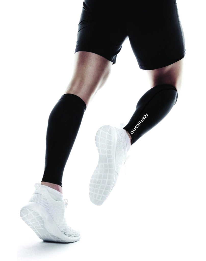 Rehband QD Compression Calf Sleeve, Unisex S/M (Pair)