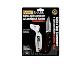 Accusharp Knife Sharpener & G10 Lockback Knife Combo