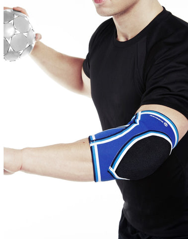Rehband RX Elbow Sleeve, Grey/Blue (DISCONTINUED)