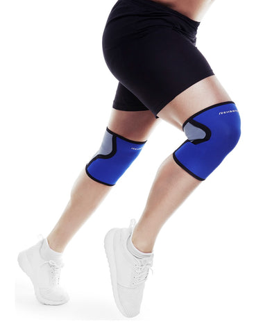 Rehband RX Elbow Sleeve, Grey/Blue,