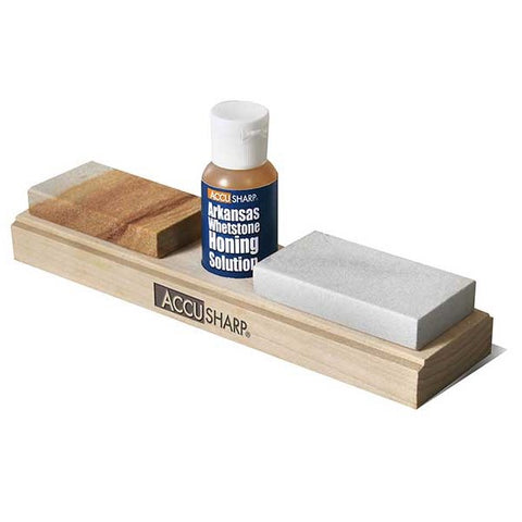 Accusharp Natural Arkansas 3-Inch Sharpening Stone with Pouch
