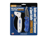 AccuSharp Blue Knife Sharpener & Sport Pocket Knife