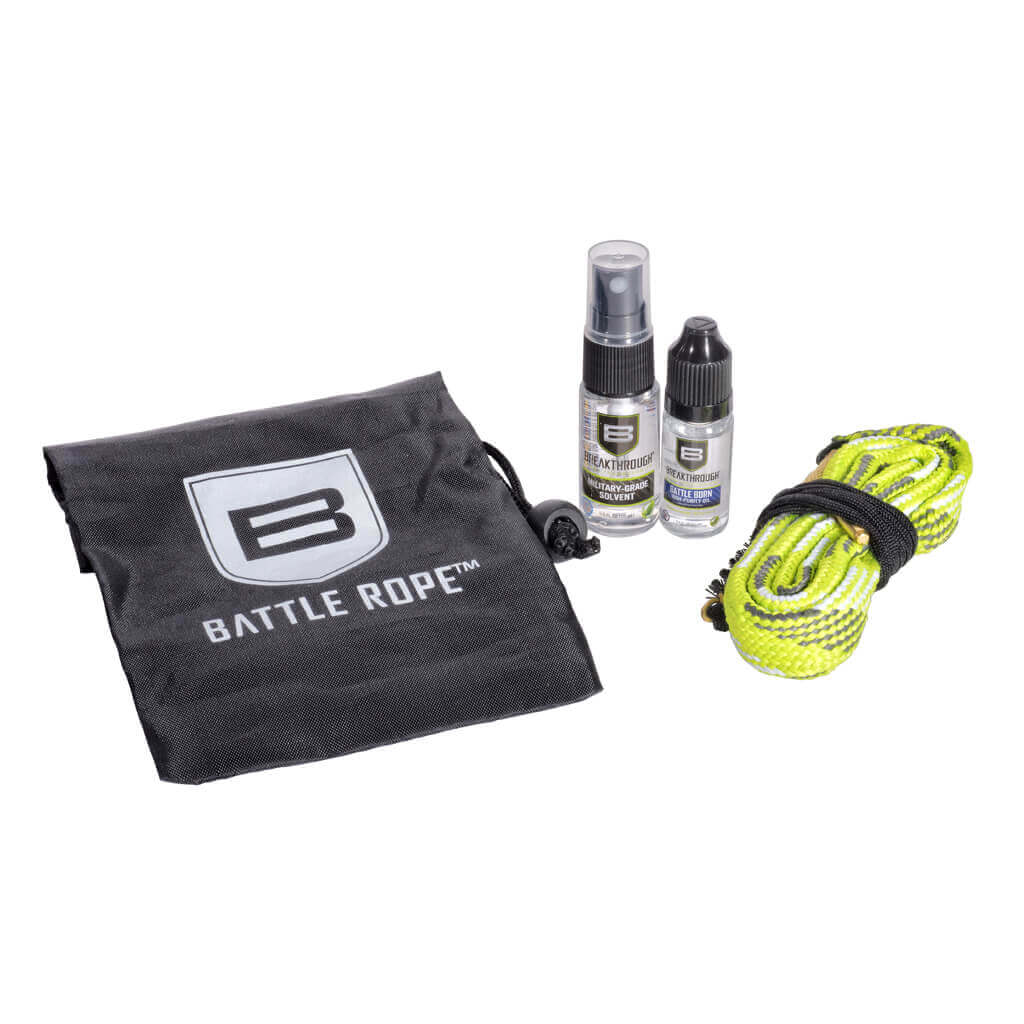 "Breakthrough Battle Rope Kit with ""Mini Size"" Bottles and Bag – .357 cal / .38 cal / 9mm (Pistol) (DISCONTINUED)"