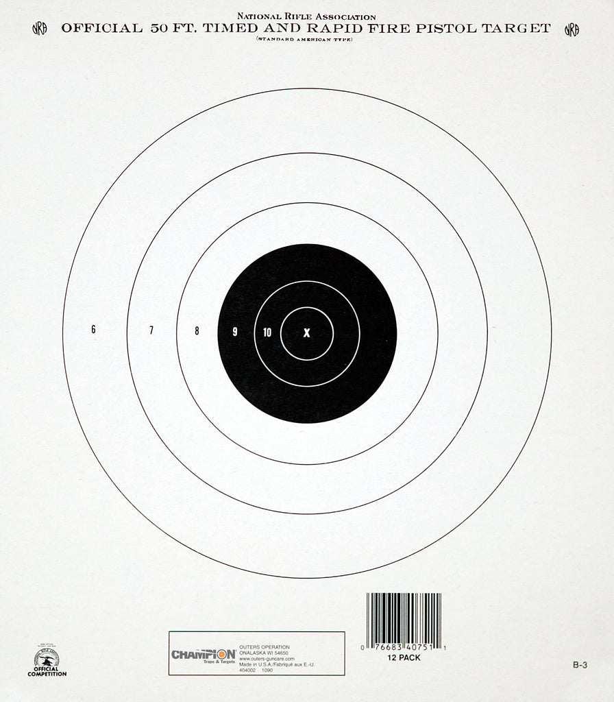 Champion Target GB3 50 Ft. Timed & Rapid Fire Training & Qualification 12 PK (DISCONTINUED)