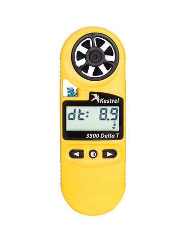 Kestrel 3500DT Weather Meter / Digital Psychrometer +Delta-T Yellow
