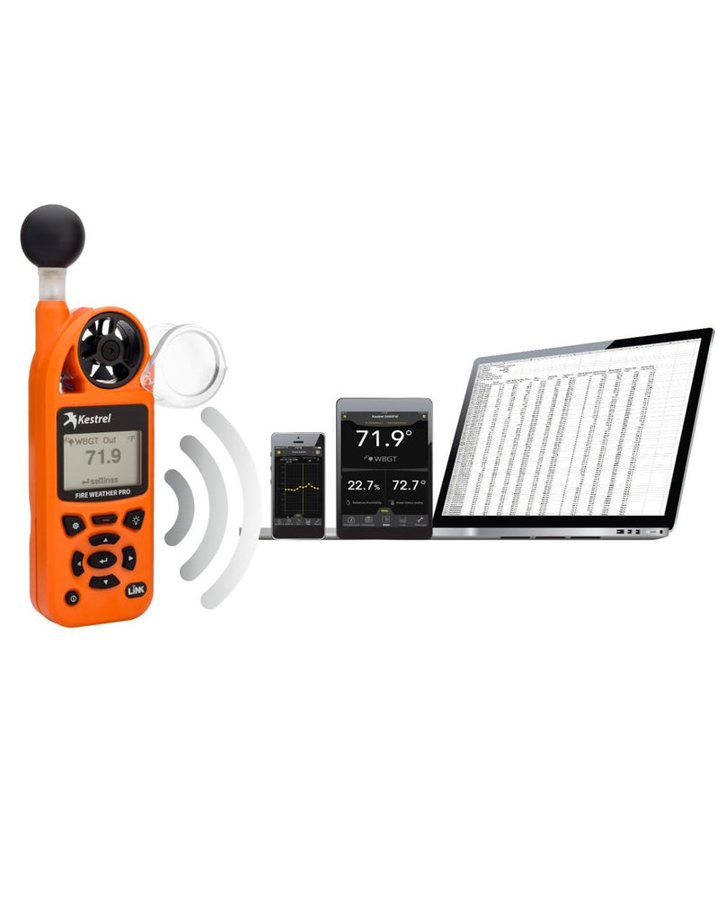 Kestrel 5400FW Fire Weather Meter Pro WBGT with LiNK, Compass and Vane Mount Safety