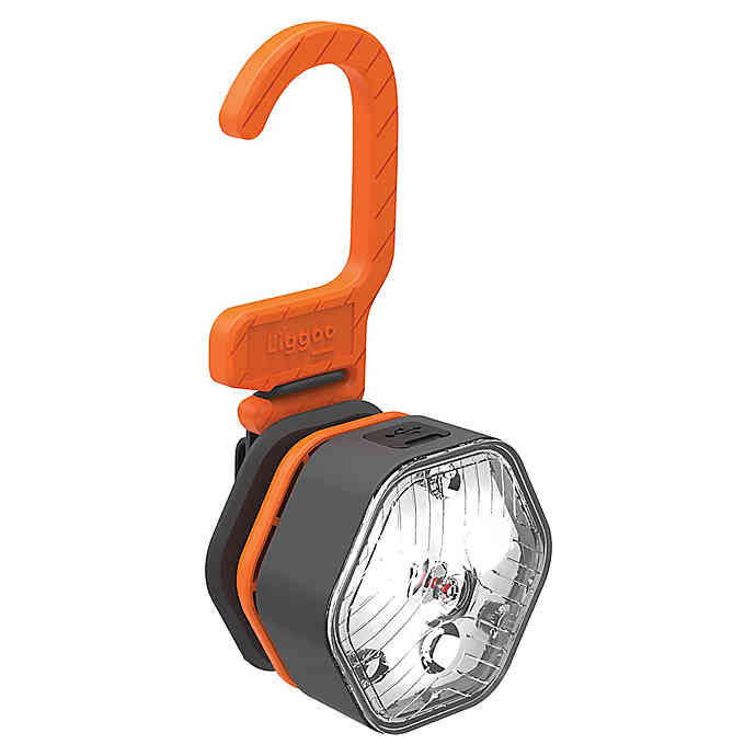 Liggoo Rechargeable LED Outdoor Pack Mobile Light in Orange
