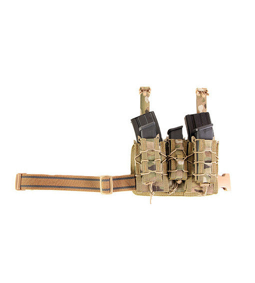 High Speed Gear Rifle Leg Rig TACOs MultiCam