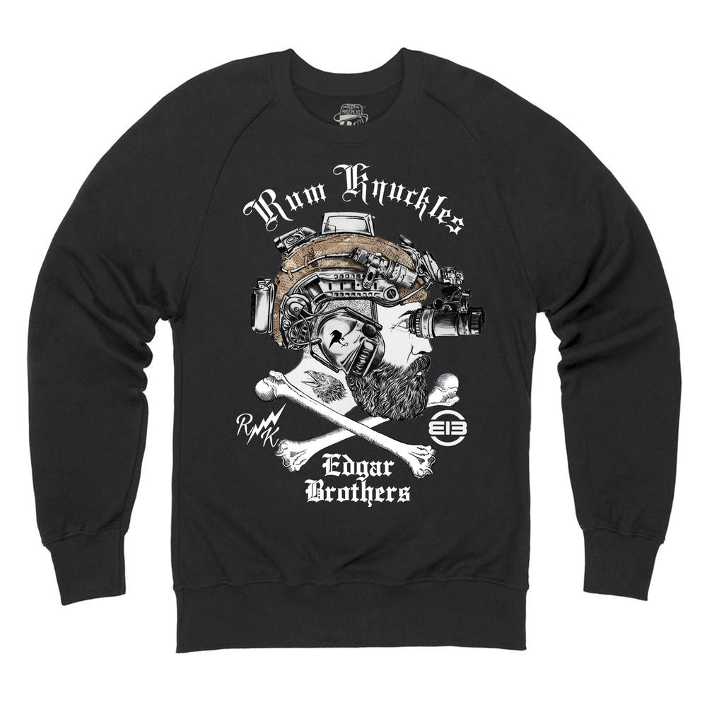Rum Knuckles & Edgar Brothers Collaboration Sweatshirt - Black