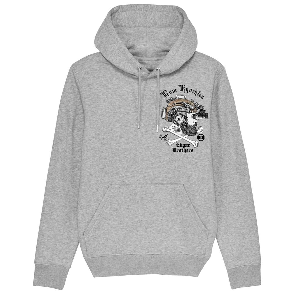 Rum Knuckles & Edgar Brothers Collaboration Hoodie - Grey