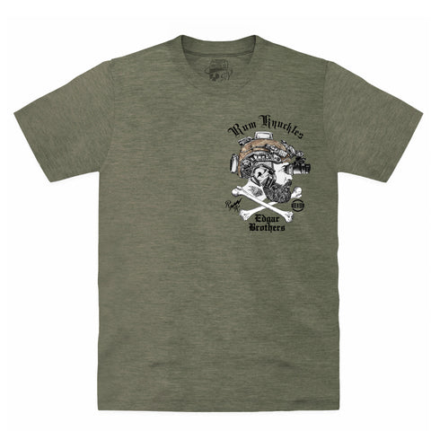 Rum Knuckles & Edgar Brothers Collaboration T-Shirt - Khaki
