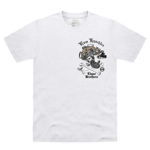 Rum Knuckles & Edgar Brothers Collaboration T-Shirt - White