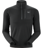 Arc'teryx Men's RHO LTW Zip Neck Top - Black - X-Large