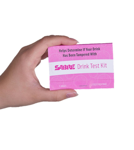 SABRE Drink Test Kit - 5 GHB/Ketamine Tests for Personal Safety (DISCONTINUED)