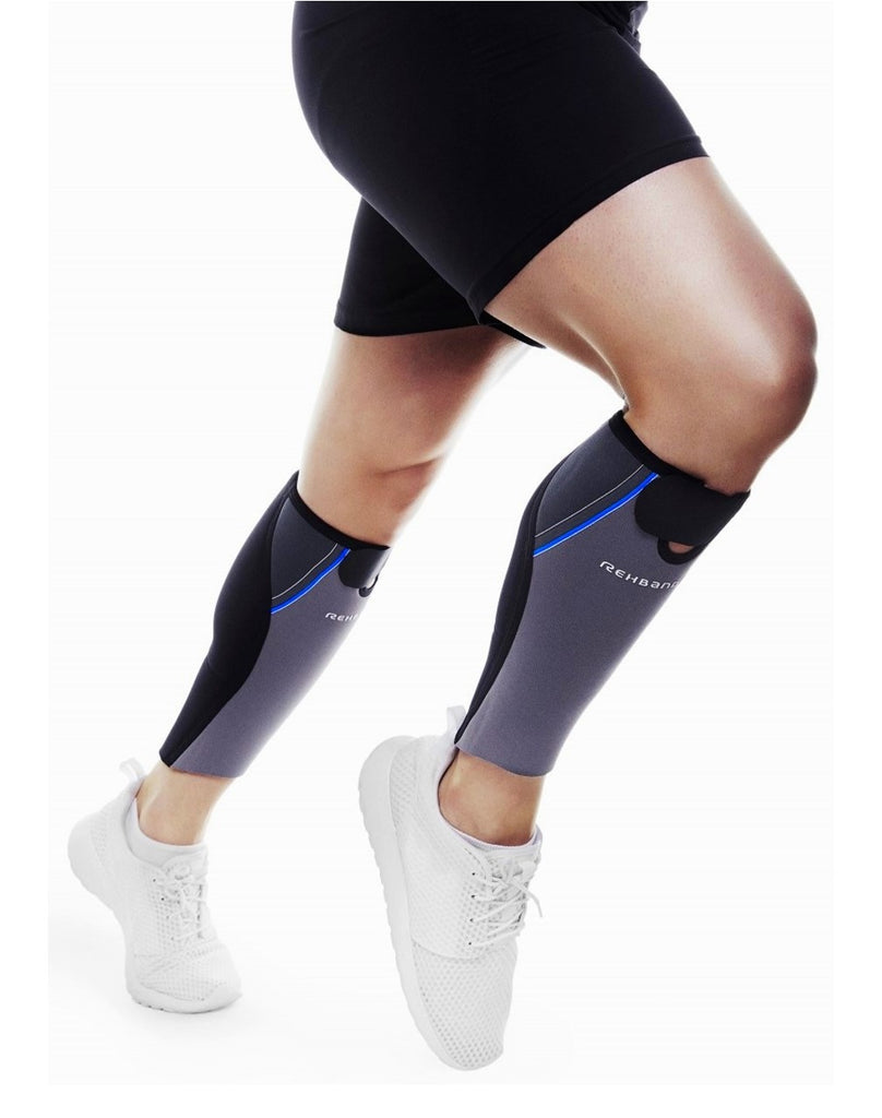 Rehband Unisex's Shin & Calf Sleeve Support (DISCONTINUED)