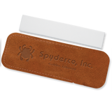 Spyderco Suede Leather Cased Fine Grit Pocket Stone 1