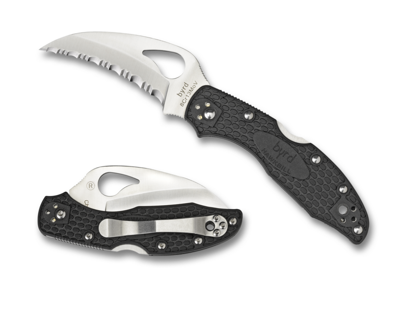 Spyderco Byrd Hawkbill Byrd™ SpyderEdge FRN Black Knife