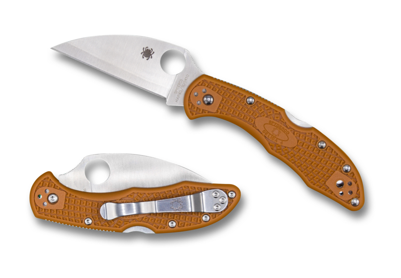 Spyderco Delica 4 FRN Burnt Orange Wharncliffe HAP 40 Sprint Run™