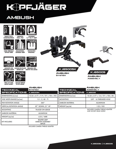 Kopfjager Ambush Support Assembly Kit