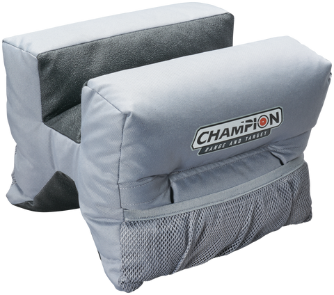 Champion Accuracy X-Ringer Shooting Bag Grey Front Bag Hang Tag E/F