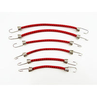 1/10 bungee cord set (6) RED