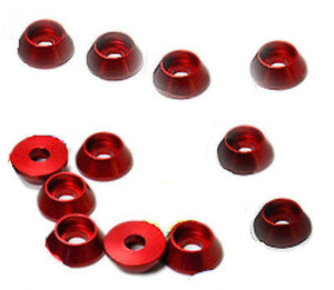 Cap Bolt Washer 4mm Set Red