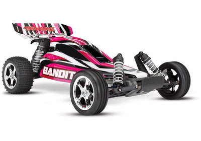 24054-1_PINKX Bandit: 1/10 Scale Off-Road Buggy. Battery  & DC Charger Pink