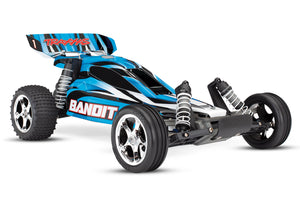 24054-1_BLUEX Bandit: 1/10 Scale Off-Road Buggy. Battery  & DC Charger Blue