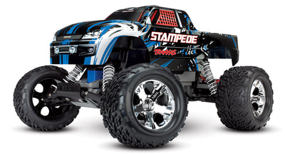 Stampede: 1/10 Scale Monster Truck Xl-5 Blue No Battery/Charger