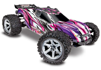 67076-4_PINK Rustler 4X4 VXL: 1/10 Scale Brushless Pink